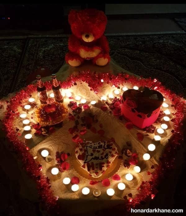 انواع تزیین شیک و خاص با گل و شمع