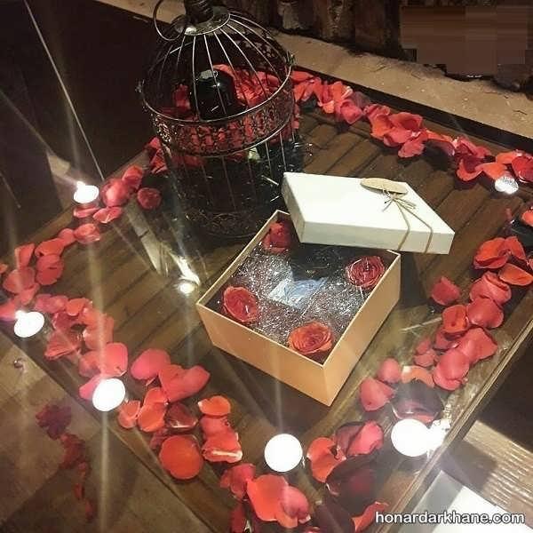 انواع تزیین زیبا و خاص با گل و شمع