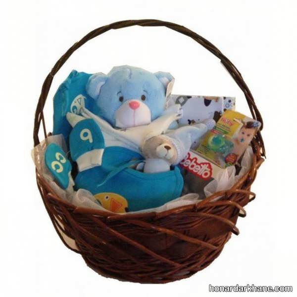 انواع بسته بندی زیبا و جدید هدیه نوزاد