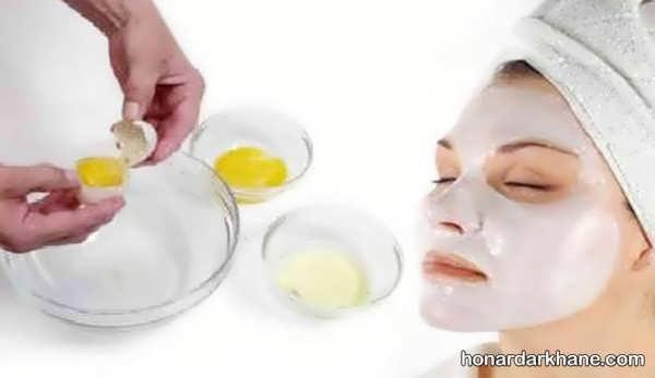 نحوه تهیه انواع ماسک خانگی با تخم مرغ