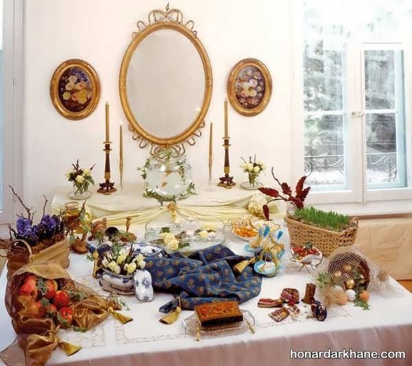 انواع تزیین میز هفت سین به سبک های جالب