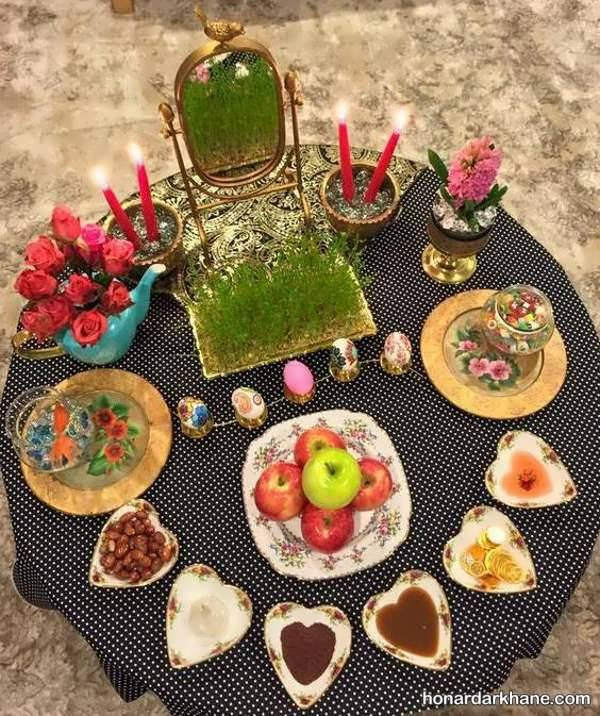 انواع تزیین میز هفت سین به شکل های مختلف
