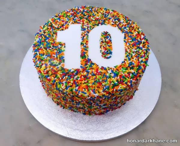 انواع آراستن کیک خانگی