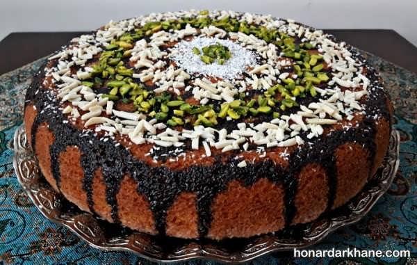 انواع آراستن کیک خانگی به شیوه های مختلف