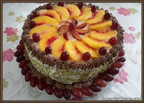 انواع تزیین بسیار شیک و جذاب کیک خانگی