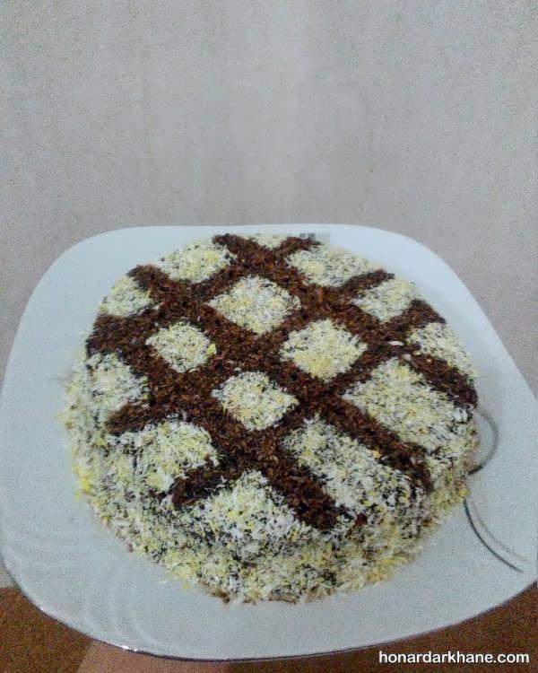 انواع تزیین جالب کیک خانگی با داژه