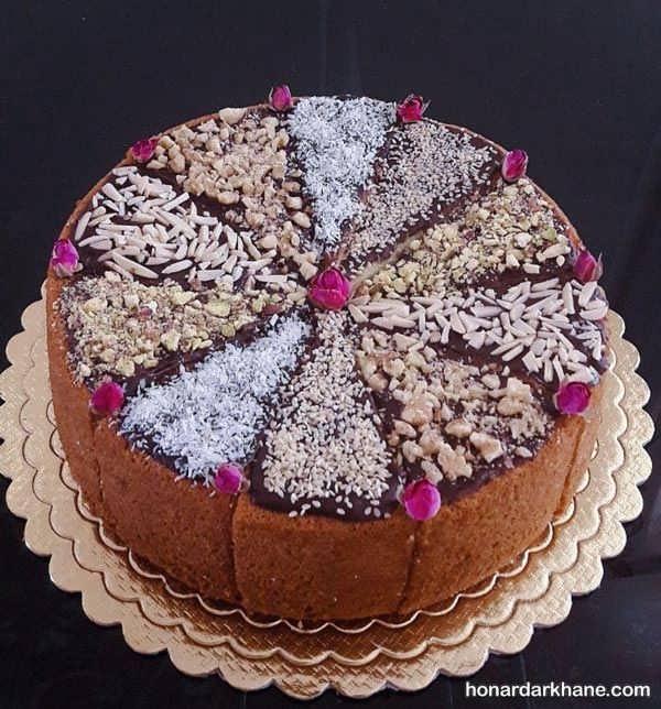 انواع تزیین جالب و جدید کیک خانگی
