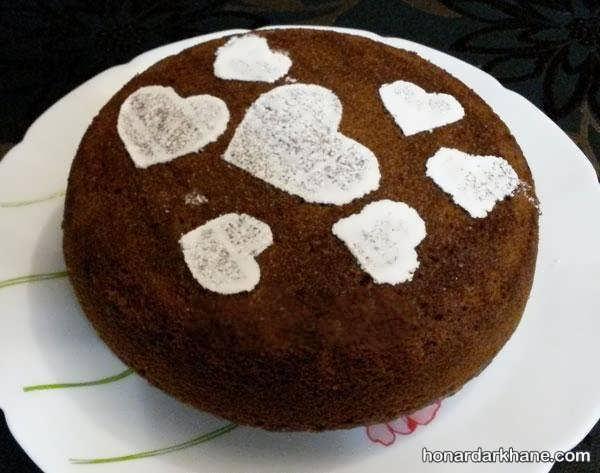 انواع آراستن کیک خانگی با میوه