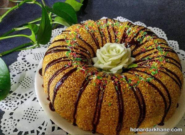 انواع آراستن کیک خانگی به روش های مختلف