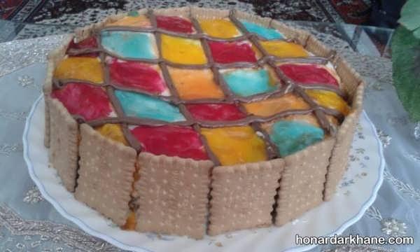 انواع آراستن کیک خانگی با مواد مختلف