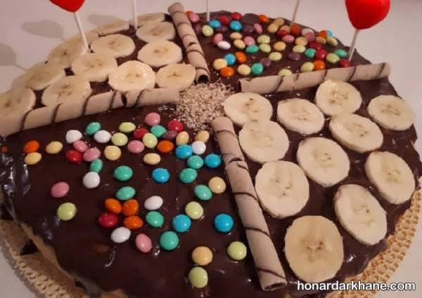 انواع تزیین کیک در خانه با میوه