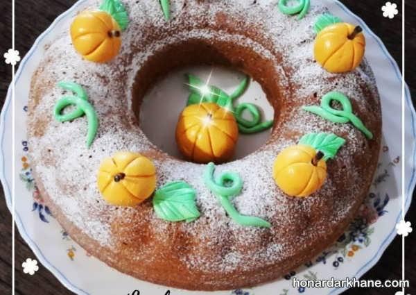 انواع دیزاین کیک خانگی با ترافل رنگی