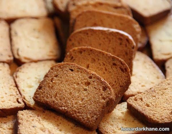 روش پخت نان سوخاری بسیار خوشمزه
