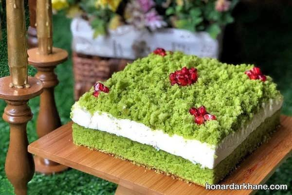 دستور پخت کیک اسفناج خانگی