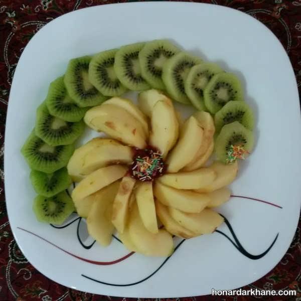 انواع میوه آرایی شیک و جدید با کیوی
