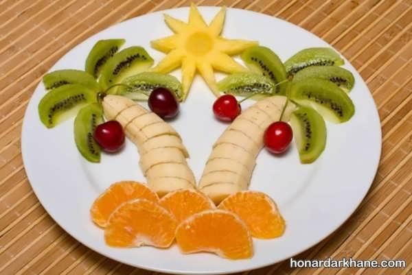 انواع میوه آرایی خلاقانه و جدید با کیوی
