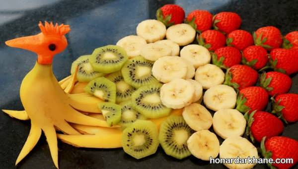 انواع میوه آرایی با کیوی به شکل های مختلف