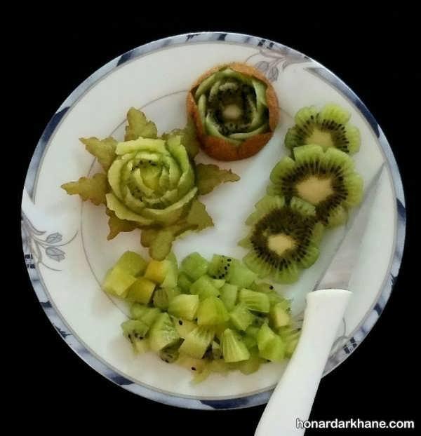 انواع میوه آرای با کیوی به سبک های مختلف