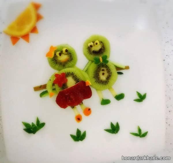 مدل های جالب میوه آرایی با کیوی