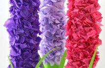 نحوه ساخت گل سنبل با کاغذ کشی