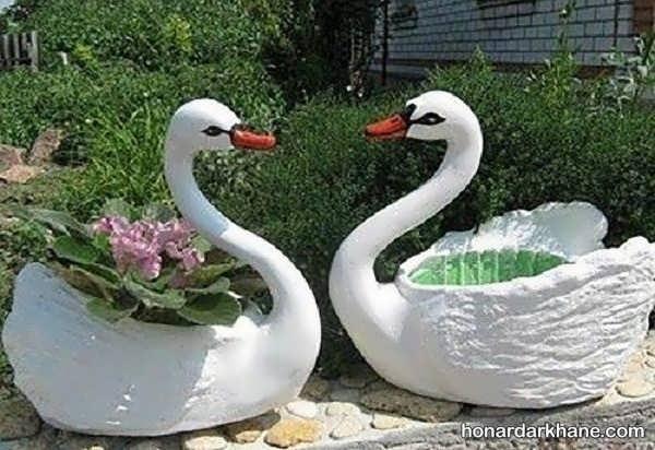 نحوه ساخت گلدان گچی در خانه
