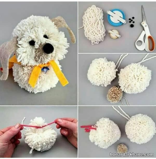 نحوه درست کردن عروسک با پوم پوم