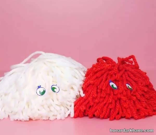 آموزش ساخت عروسک با توپک کاموایی