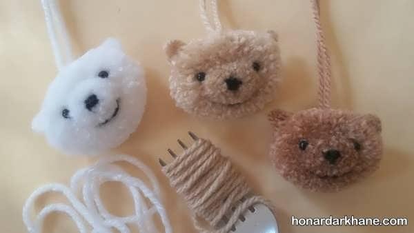 آموزش ساخت عروسک خرگوش با پوم پوم