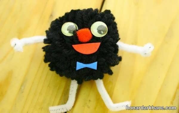 روش درست کردن عروسک بامزه با توپک کاموایی