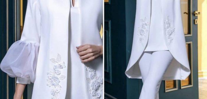 انواع مدل مانتو سفید زنانه در طرح های شیک و زیبا