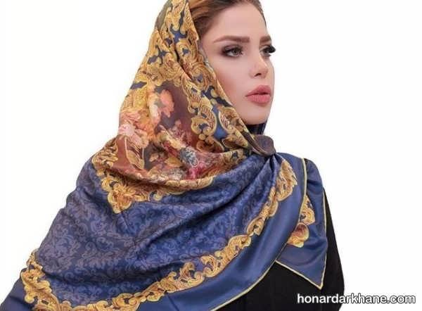 انواع روسری نخی بسیار زیبا و شیک