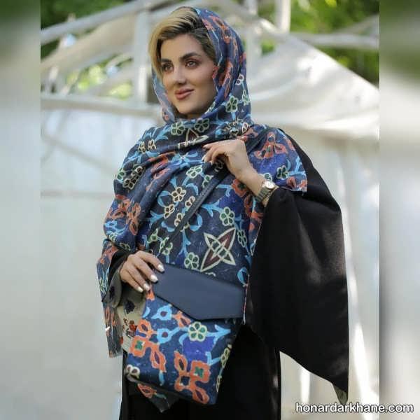 انواع روسری طرح دار زیبا و جذاب
