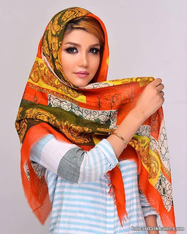 زیباترین انواع روسری برای سال نو