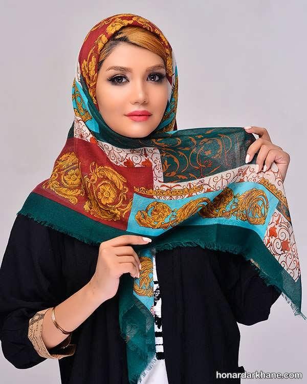 مدل های جذاب و خاص روسری نخی