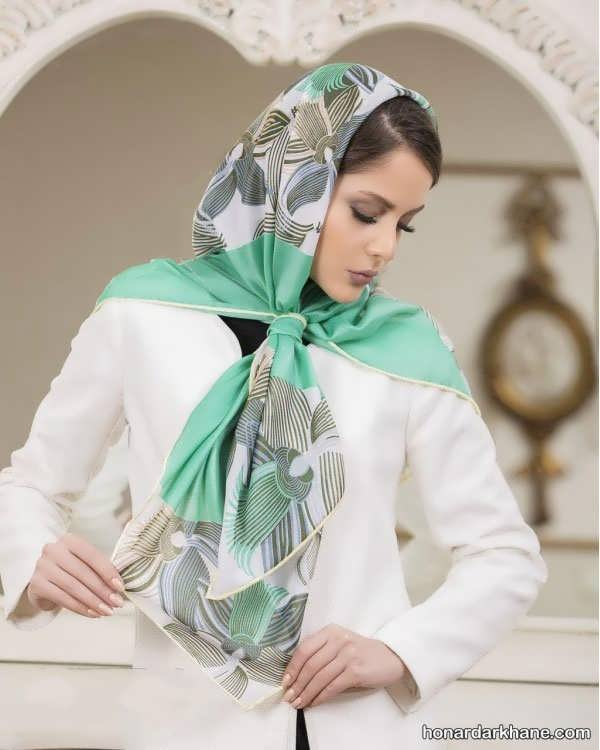انواع روسری نخی زیبا برای سال 99