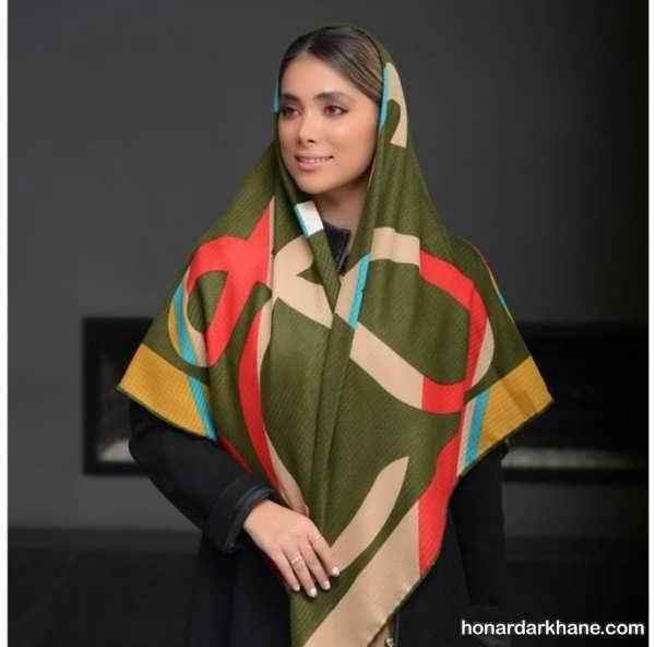 انواع روسری نخی زیبا و شیک