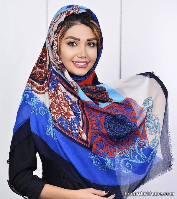 انواع روسری تک رنگ برای سال 99