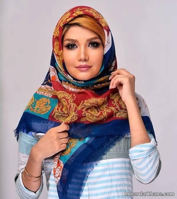 انواع روسری طرح دار زیبا و جدید