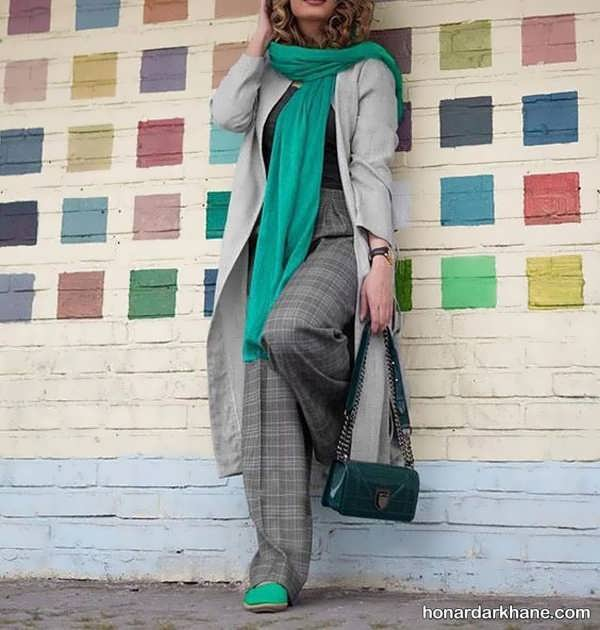 ایده های جدید ست با لباس طوسی