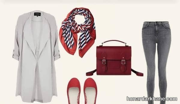 ایده های جدید و جذاب ست با لباس طوسی