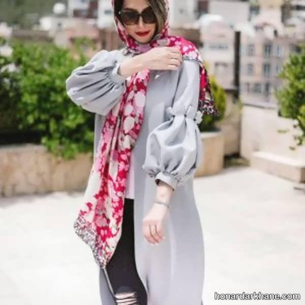مدل های شیک و جالب ست با لباس طوسی