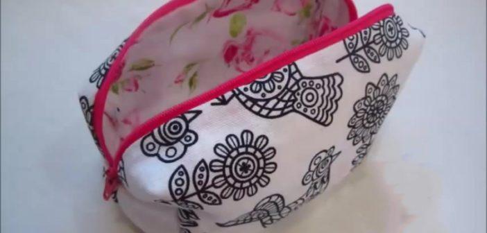 نحوه دوخت کیف آرایش زیبا و شیک