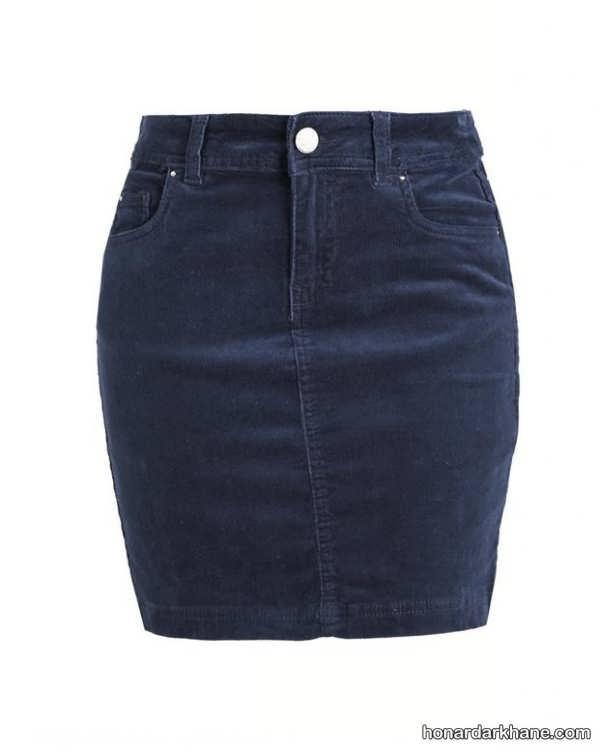 انواع دامن کوتاه جین دخترانه