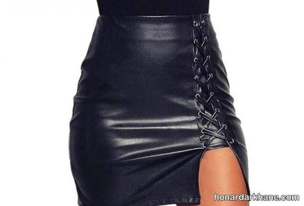 انواع دامن چرم کوتاه دخترانه