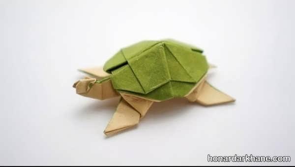 انواع هنرآفرینی با کاغذ به شکل لاک پشت
