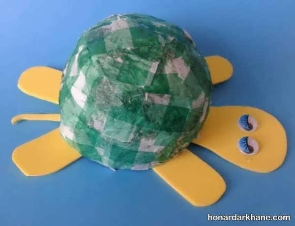 مدل های خلاقانه هنردستی کودکانه به شکل لاک پشت