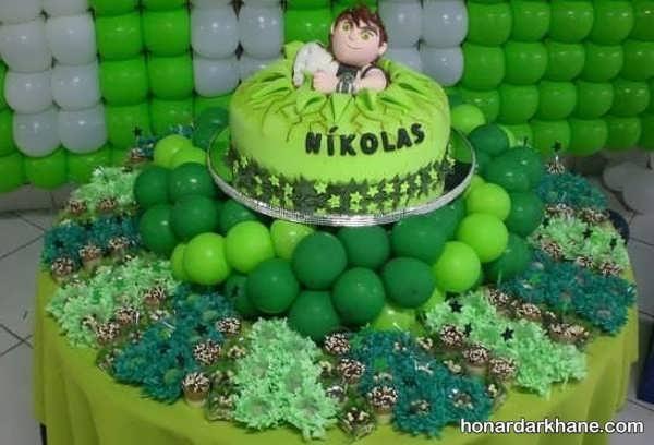 انواع دیزاین جذاب مراسم تولد با تم تولد بن 10