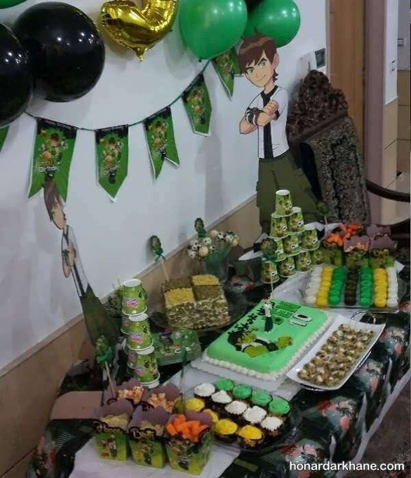 انواع دکوراسیون زیبا و جالب جشن تولد با تم تولد بن 10