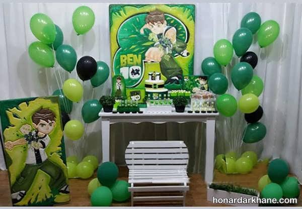مدل های شیک برپایی جشن تولد پسرانه با تم تولد بن 10