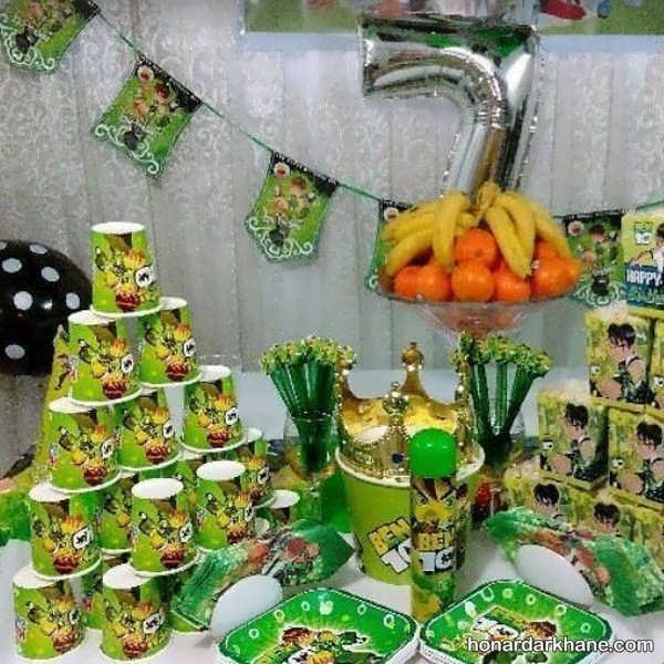 انواع تزیین خاص و خلاقانه جشن تولد با تم تولد بن 10